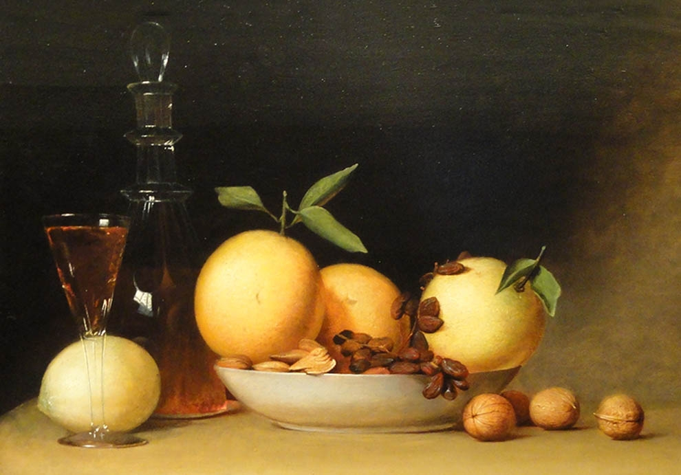 Still Life with Liqueur and Fruit - Raphaelle Peale - 1814